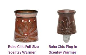 Boho Chic Scentsy gift set (full-sized warmer, plug-in warmer and THREE scent bars)