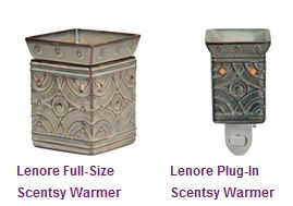 Lenore Scentsy gift set (full-sized warmer, plug-in warmer and THREE scent bars)