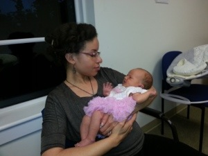Shana Oshiro and baby Claire